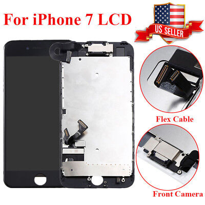 Black A1660 A1778 For iPhone 7 Replacement Assembly LCD Touch Screen Digitizer