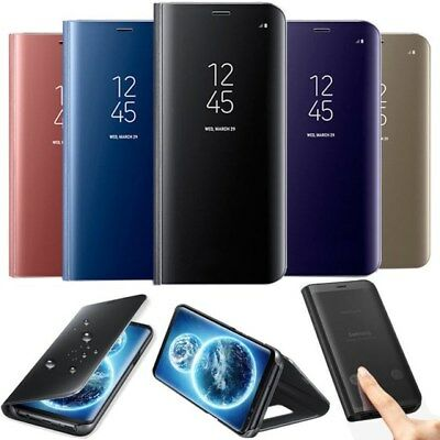 For Samsung Galaxy S9 Plus Smart View Mirror Case Leather Flip Stand Cover S9+