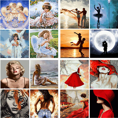 Art Decor Paint By Number Kit DIY Acrylic Oil Painting On Canvas Angel Women Hot