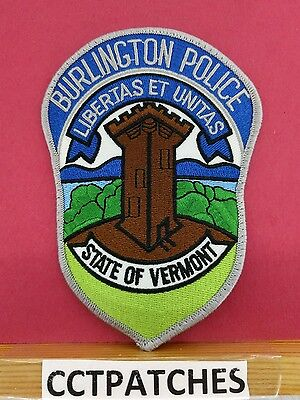 Burlington, Vermont Police Shoulder Patch Vt