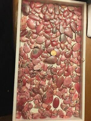 1000g Over 250pcs Wholesale Rhodochrosite Polished Cabochon Bulk Cabs Pink Peru