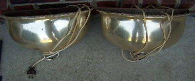 Mappin & Webb ~ Sheffield ~ Pair of Vintage Silverplated Lamp Wall Sconces ~