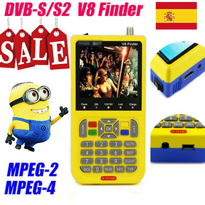 Digital V8 Finde signal meter  MPEG-4 MPEG-2 1080P DVB-S/S2  satellite finder