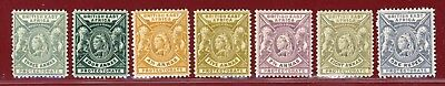 British East Africa 1896-01 #77/83(7), Mint, Hinged, OG, SCV $207.25