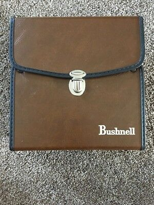 Vintage BUSHNELL Brown Faux Leather Binoculars Carrying Case ONLY