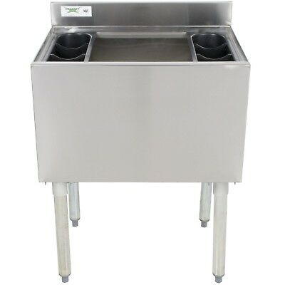 """18"""" x 24"""" Underbar Stainless Steel Commercial NSF 77lb Ice Bin Cooler Under Bar"""