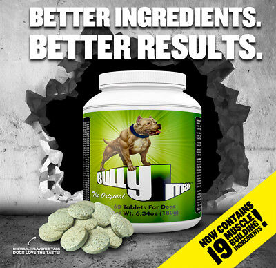 Bully Max Dog Vitamin Mineral Supplement - 60 Tablets - Official Uk Dealer