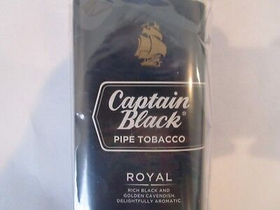 Plastic Pipe Tobacco Pouch  CAPTAIN BLACK ROYAL Holds 1.5 oz. FREE SHIPPING