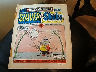 SHIVER AND SHAKE  Paper comic 1973 ISSUE NUMBER 34 Still in great conditions