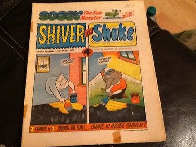 SHIVER AND SHAKE  Paper comic 1973 ISSUE NUMBER 9 Still in great condition