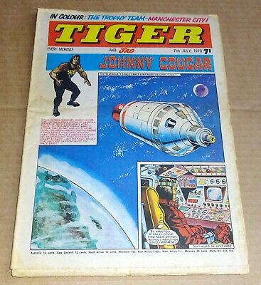 """BRONZE AGE  IPC  """"TIGER and JAG""""  COMIC  DATED JULY 11th 1970"""