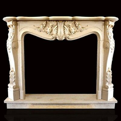 Fireplace Marble Yellow Egypt Frame Style Classic louis XVI Marble Fireplace