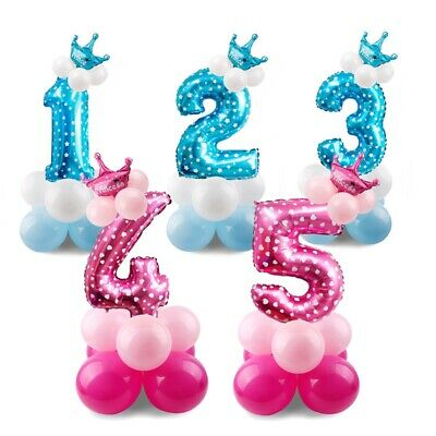 """32"""" Giant Foil Number Helium Balloons Boy Girl Kids Happy Birthday Party Supply"""