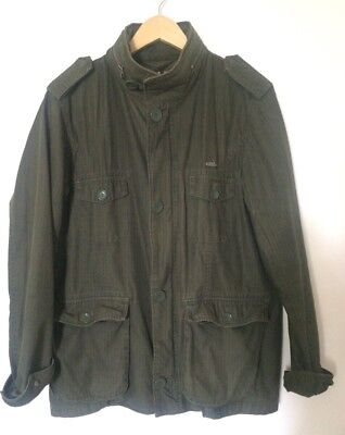 Atticus Military Style Jacket Size M Green Coat Casual Cotton Lightweight