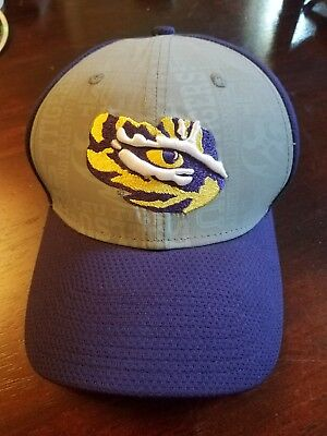 2765dd22b41 Lsu Tigers Ncaa New Era 39Thirty Fitted Cap Eye Of The Tiger Size  Medium-Large