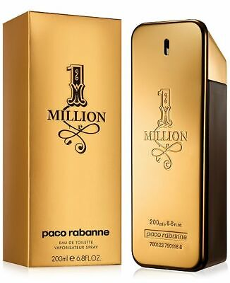 1 One Million by Paco Rabanne Cologne for Men 6.7 / 6.8 oz EDT Spray New in Box