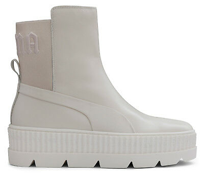 5002946d2fe PUMA FENTY BY Rihanna Eskiva Over the Knee Boot White Leather SIZE ...