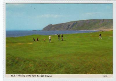KINCRAIG CLIFFS FROM THE GOLF COURSE, ELIE: Fife postcard (C35222)