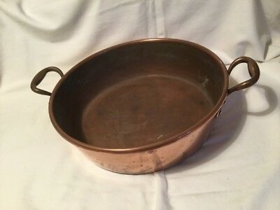 Lovely Victorian French All Copper Confiture Jam Pan With Rolled Edge Rim