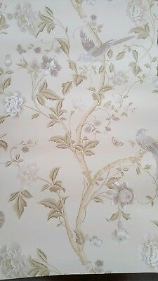 Laura Ashley Wallpaper Summer Palace Taupe Ivory 1 Roll Batch No W095301 A