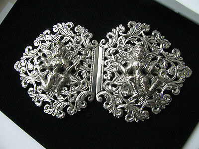 Vintage Indian Silver Nurse / Matrons Buckle 81.6g Fabulous Detailing & Quality