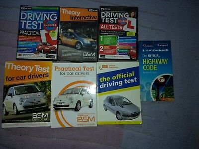 driving test, practical, theory, all tests,collection of book and CD's