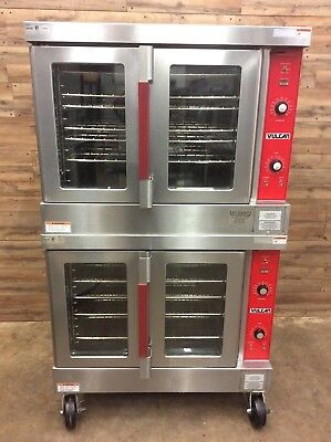 2009 Vulcan VC4ED Electric Convection Oven - Double Stack, Standard Depth