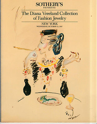 Sotheby's New York Teh Diana Vreeland Collection of Fashion Jewelry Oct 21, 1987
