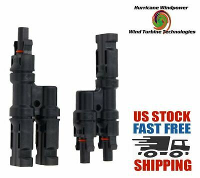 """MC4 /""""U/"""" M//F//F and F//M//M Solar Panel Cable Branch Connector UL 9703 Made in USA Y"""