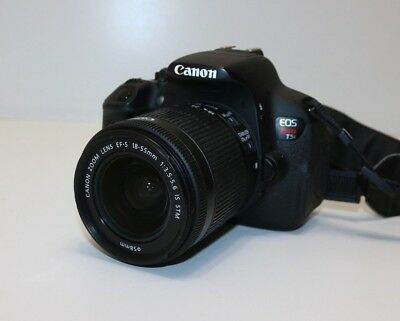 CANON EOS REBEL T5i Digital SLR DS126431 w/ 18-55mm f/3 5-5 6 IS STM Kit  Lens