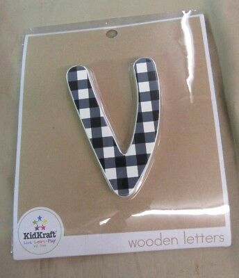 """.RARE - New KID KRAFT SOLID WOODEN LETTERS - *~v~* - FREE SHIPPING 6"""" Letter"""