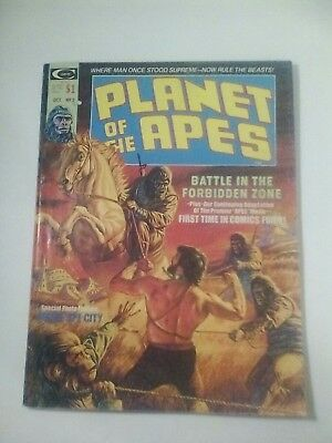 1974 Planet Of The Apes Magazine # 2 * Free Shipping In Canada & Usa Mainland *