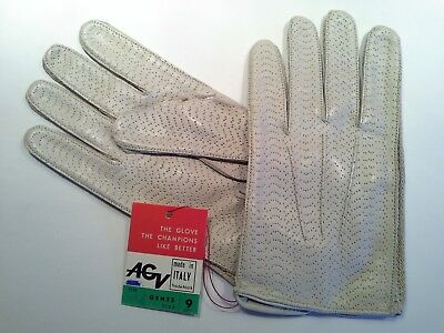 Vintage AGV Le Mans Guanto Driving Gloves, Italy, Gents Size 9