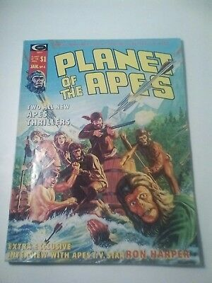 1975 Planet Of The Apes Magazine # 4 * Free Shipping In Canada & Usa Mainland *