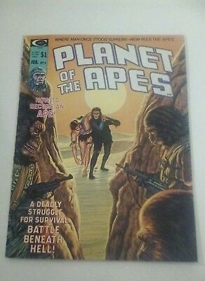 1975 Planet Of The Apes Magazine # 5 * Free Shipping In Canada & Usa Mainland *