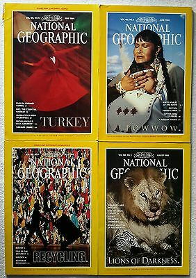 4 x National Geographic Magazine May, June, July & August 1994