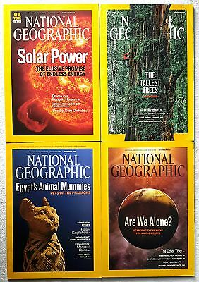 4 x National Geographic Magazine September, October, November & December 2009