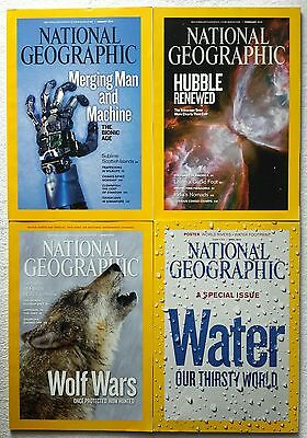 4 x National Geographic Magazine January, February, March & April 2010