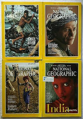 4 x National Geographic Magazine Nov. 1991, Aug. 1992, Sep. 1993 & May 1997