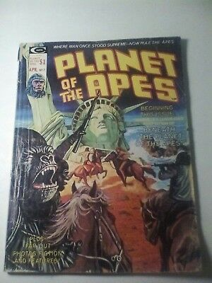 1975 Planet Of The Apes Magazine # 7 * Free Shipping In Canada & Usa Mainland *