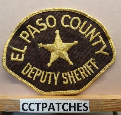 El Paso County, Colorado Sheriff (Police) Shoulder Patch Co