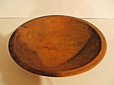 "VINTAGE MUNISING Oval Wooden BOWL 9""  Out of Round"