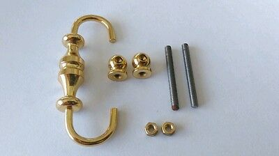 Brass Handle 61x27mm 30mm Hole Distance