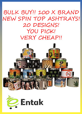 Spin Top Ashtrays x 100 - Bulk lot Buy - Wholesale - Bargain - Very Cheap
