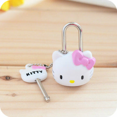 1pcs Hello Kitty Lock Cat Multifunctional Mini Lock with Key for Zipper Backpack