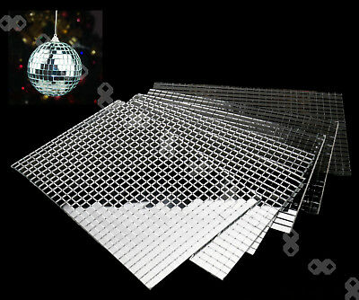 5 Sheets x 600pcs Tiny Silver Mirror Mosaic Tiles DIY Xmas Decoration  5 x 5mm