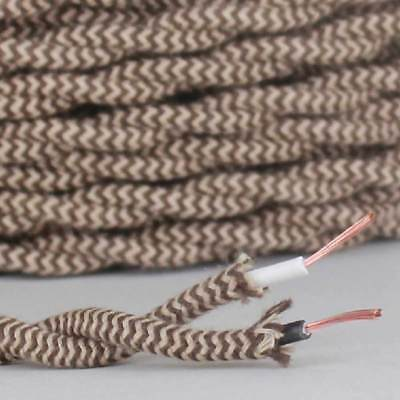 Cloth Covered Lamp Wire Cord  ~ 2-Wire ~ TWISTED ~ { 27 Colors} ~ Price Per Foot