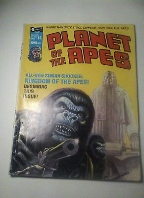 1975 Planet Of The Apes Magazine # 9 * Free Shipping In Canada & Usa Mainland *