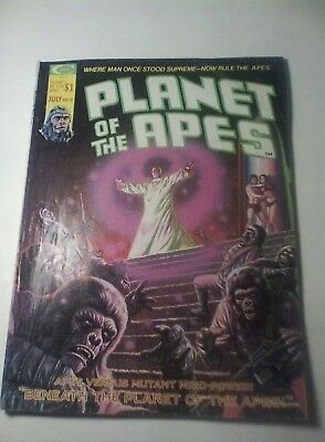 1975 Planet Of The Apes Magazine # 10 * Free Shipping In Canada & Usa Mainland *