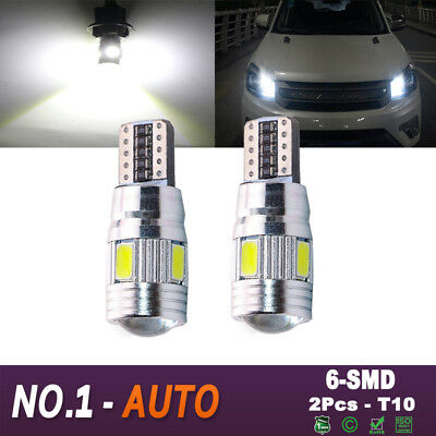 2 PCS T10 501 194 W5W 5630 LED SMD Car HID Canbus Error Free Wedge Light Bulbs